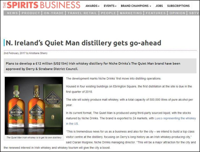 Quiet Man Spirit Business